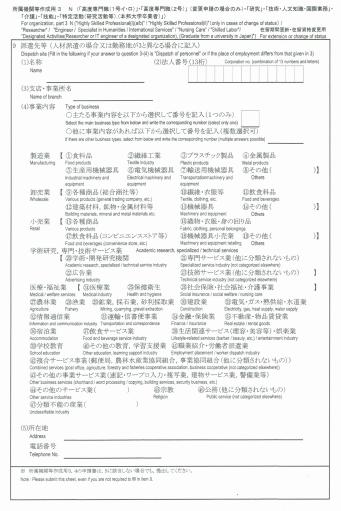 所属機関等作成用③-1
